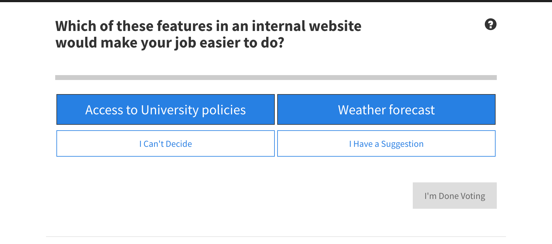 pairLab prioritizes ideas by making it easy for poll participants to make a choice and it crowdsources news ideas.